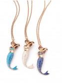 Handcrafted bronze mermaid pendant - Sirena