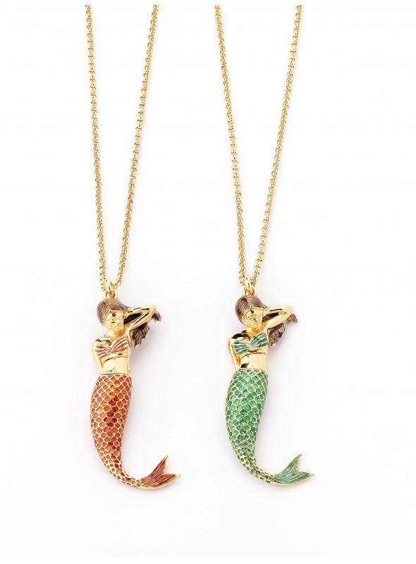 Bodice and tail for mermaid pendant