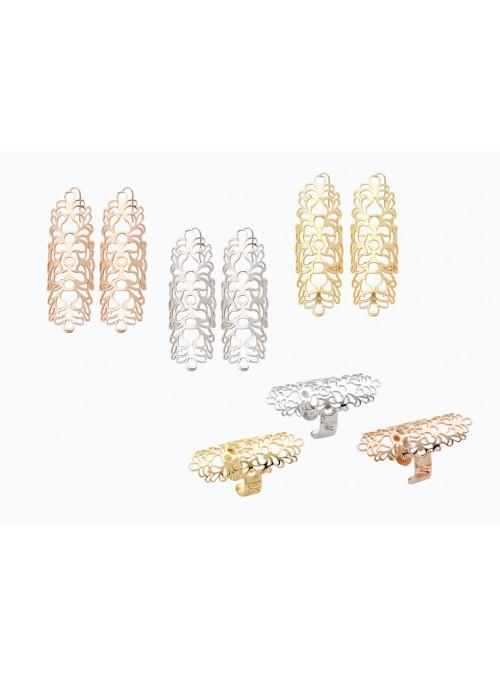 Set anello e orecchini in bronzo placcato oro - Arabian Style
