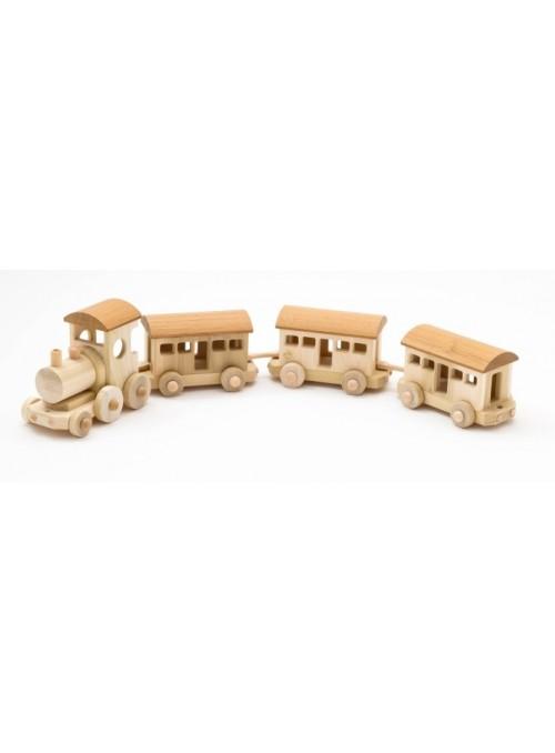 Treno passeggeri giocattolo in legno - Baleno