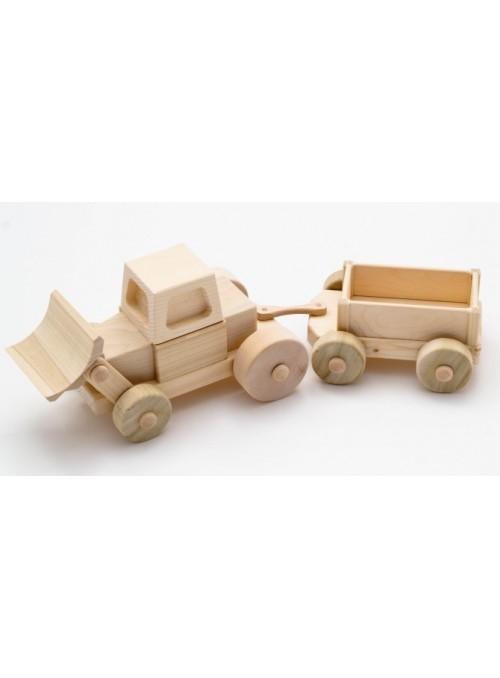 Ruspa con carro, giocattolo in legno