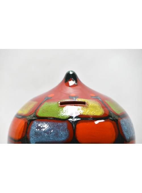 Salvadanaio decorato in ceramica
