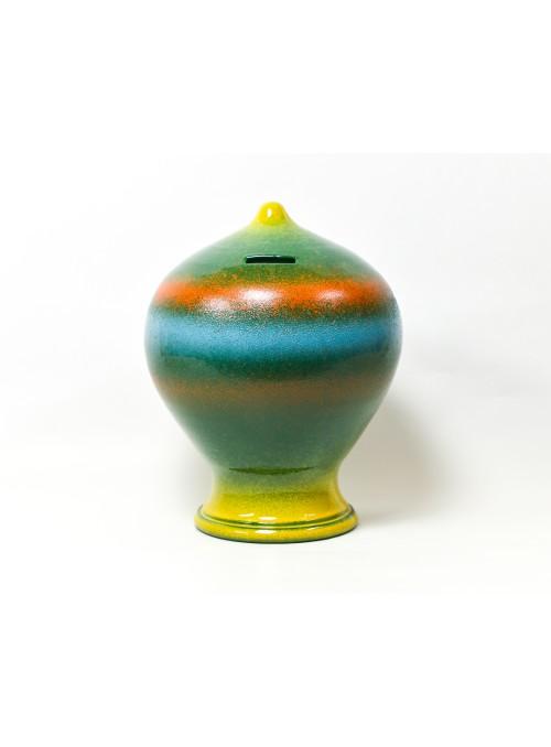 Salvadanaio con sfumature in ceramica