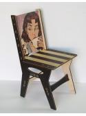 Sedia decorata in legno multistrato
