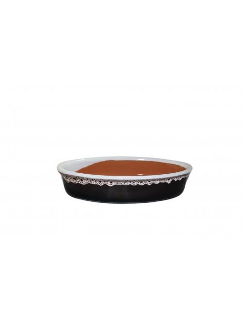Ciotola ovale con decoro merletto