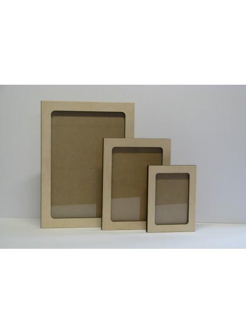 Kit tre cornici in legno multistrato - Nuvole