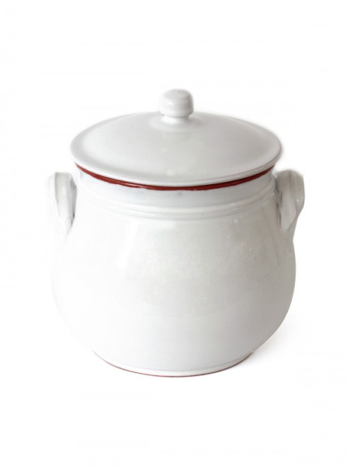 Clay white fire pan