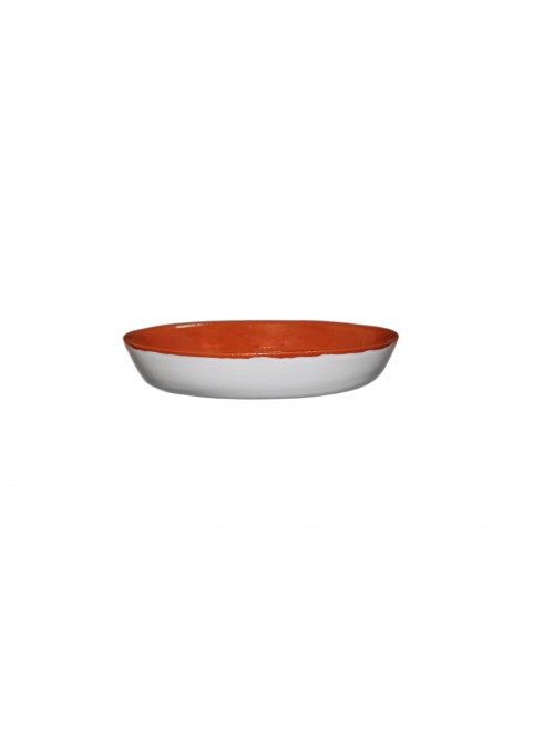 White fire clay bowl
