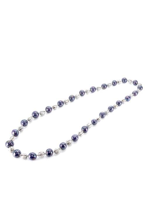 Collana lunga di perline in majolica