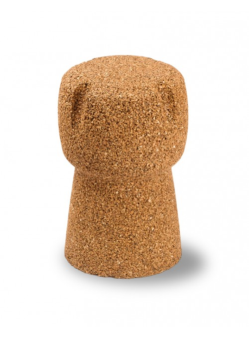 Comfortable stool in blond cork - Corkpouf