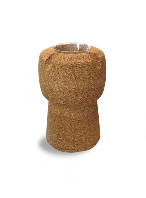 Ice box shaped as a wine cork in blond cork - Ghiacciaia
