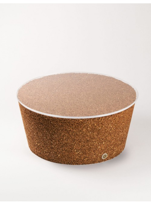 Small table with transparent surface in blond cork - Japan