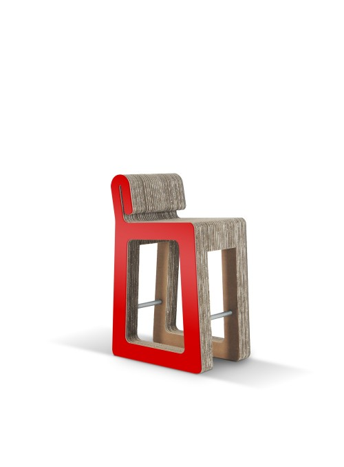 Sgabello moderno di ecodesign in cartone - Hook Stool