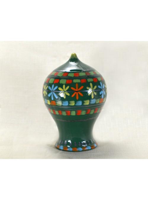 Salvadanaio con decori policromi in ceramica