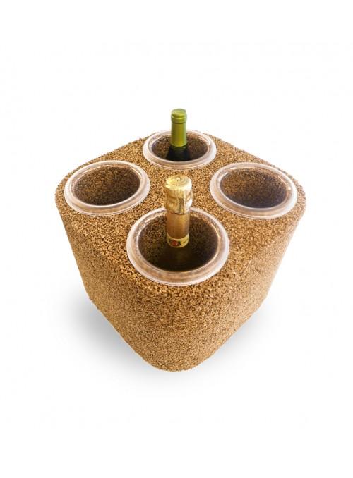 Four bottles glacette in cork - Eco Frigo