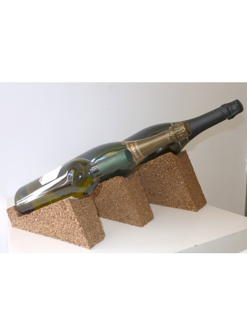 Porta bottiglie in sughero piccolo - Wine display bottle