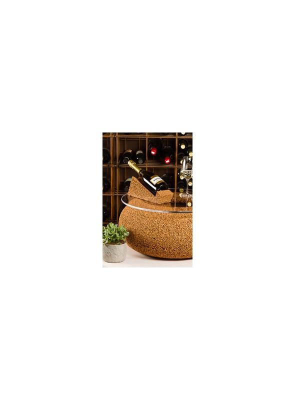 Medium sized bottle rack in cork - Wine display magnum
