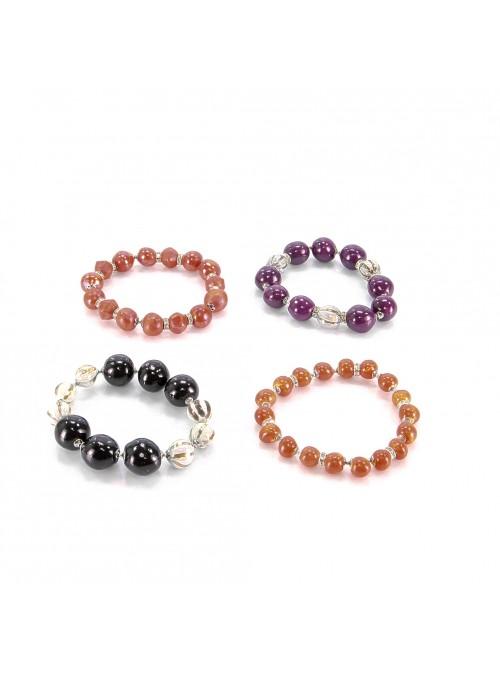 Bracciale elastico di perline in majolica