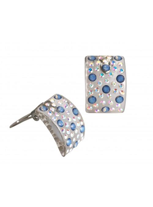 Orecchini carré con cristalli Swarovski