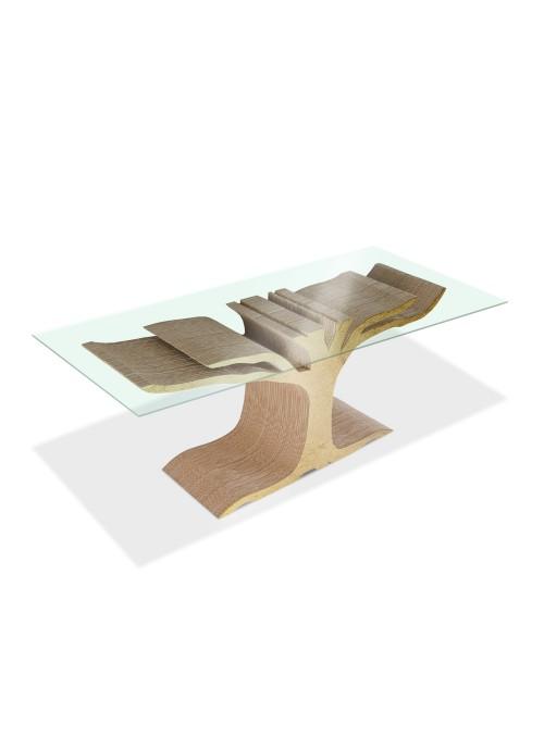 Tavolo basso di ecodesign in cartone - Floyd
