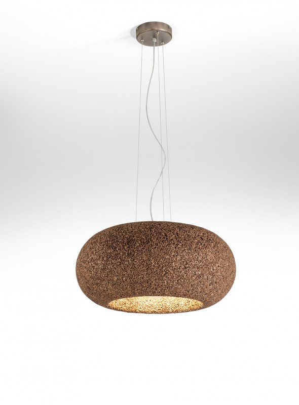 Suspension lamp in cork - Disco Lamp
