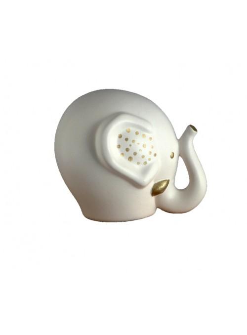 Elefante in ceramica colorata a mano