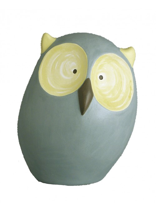 Hand-painted ceramic owl