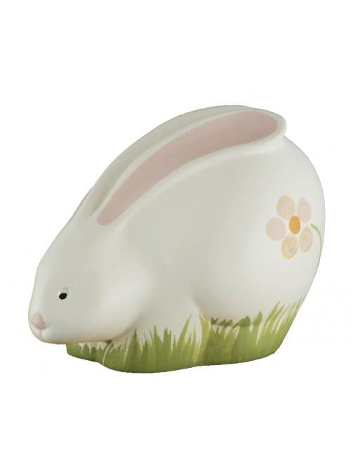 Coniglietto in ceramica colorata a mano