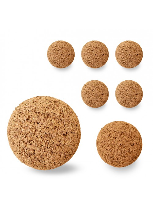 Set of eight spheres in cork - Spheres 9
