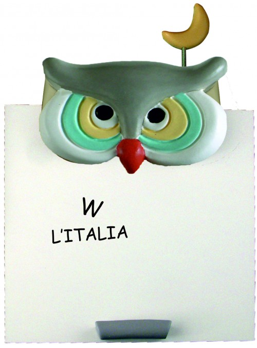 Hand-painted ceramic owl whiteboard