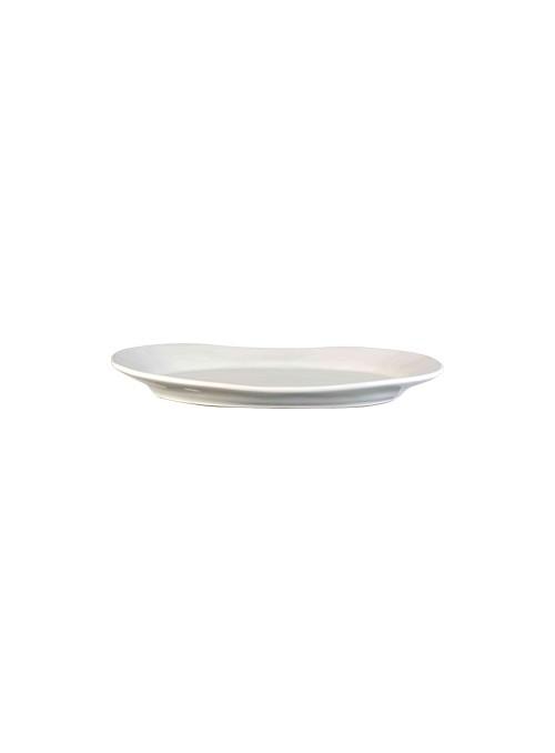 Elliptical ceramic tray - Estia