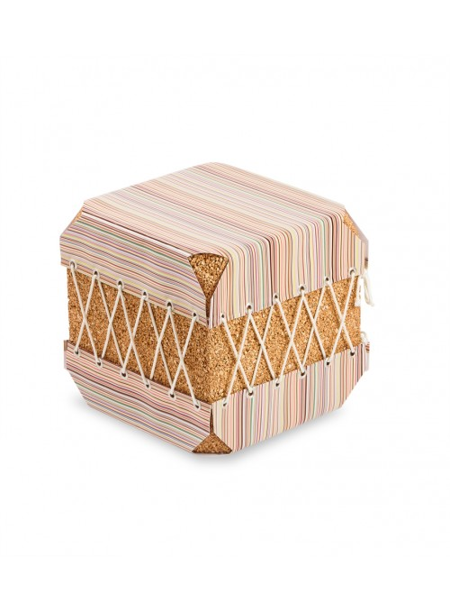 Squared pouf in cork and pvc - Dado Paul