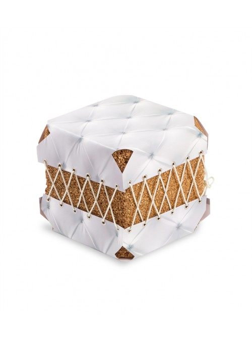 Squared pouf in cork and pvc - Dado Broccato