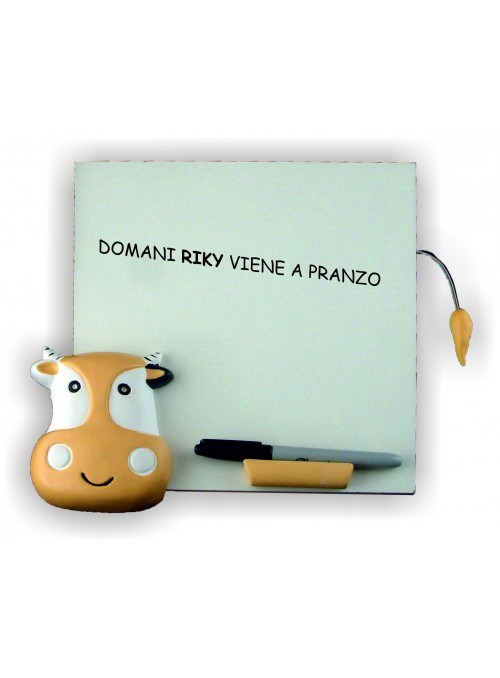 Hand-painted ceramic cow whiteboard