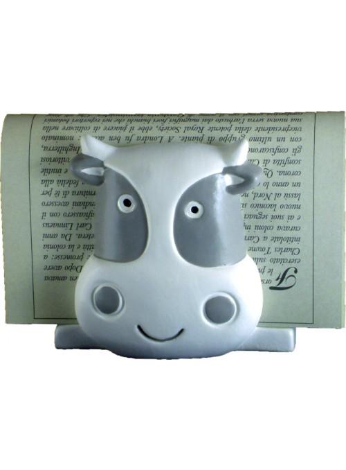 Porta tovaglioli mucca in ceramica colorata a mano