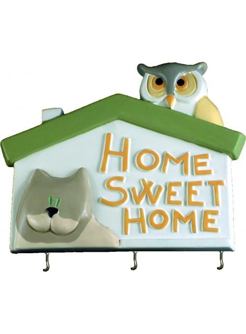 Appendino in ceramica colorata a mano - Home sweet home