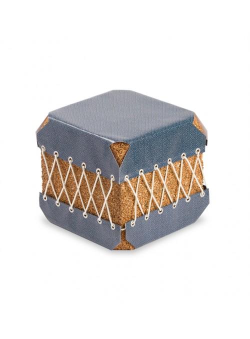 Squared pouf in cork and pvc - Dado Ermenegildo