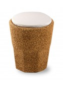 Cork stool shaped as a glass with cushion - Spritz cushion