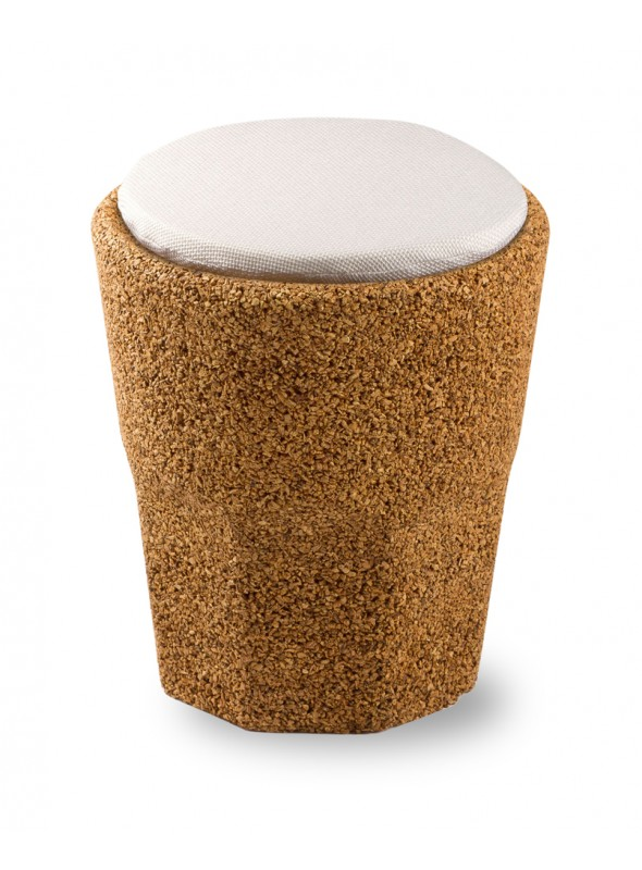 Cork stool shaped as a glass with cushion - Spritz