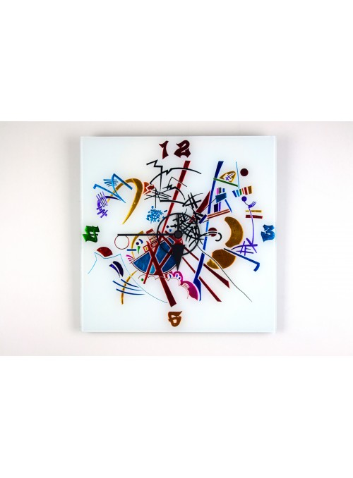 Glass artistic clock - Kandinskij time