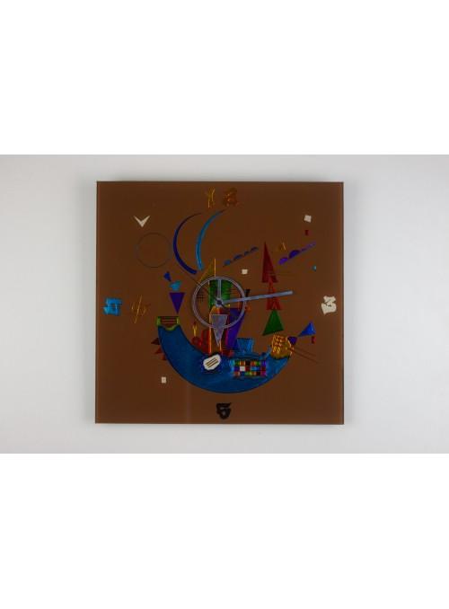 Brown glass artistic clock - Composizione