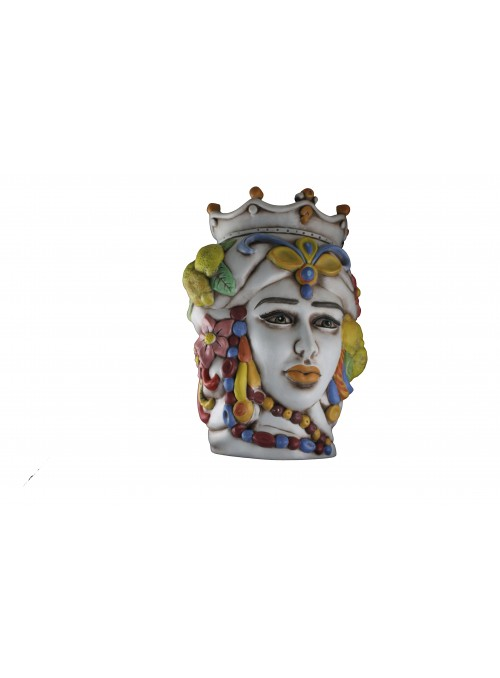 Hand-painted antiqued ceramic woman's head - I Mori