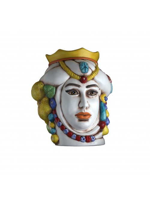 Testa di donna in ceramica anticata - I Mori