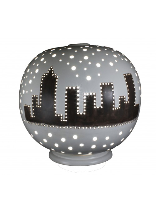 Rounded ceramic lamp - Metropoli
