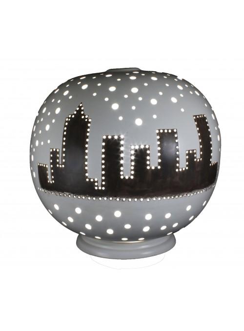 Rounded ceramic lamp - Metropoli