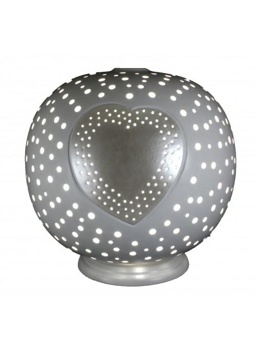 Rounded ceramic lamp - Cuore