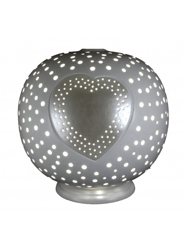 Rounded ceramic lamp - Cuore