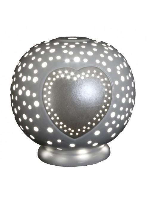 Lampada a sfera in ceramica - Cuore
