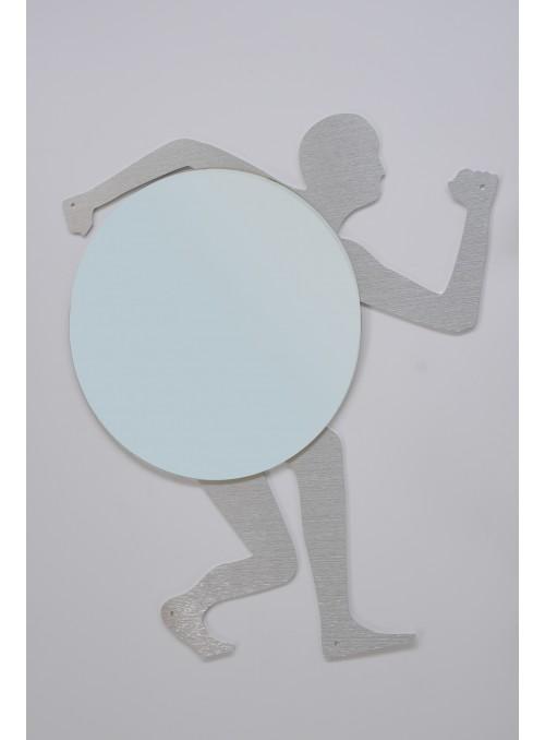 Specchio da muro in alluminio riciclato - Olimpia