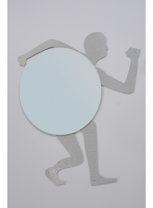 Wall mirror in recycled aluminum - Olimpia